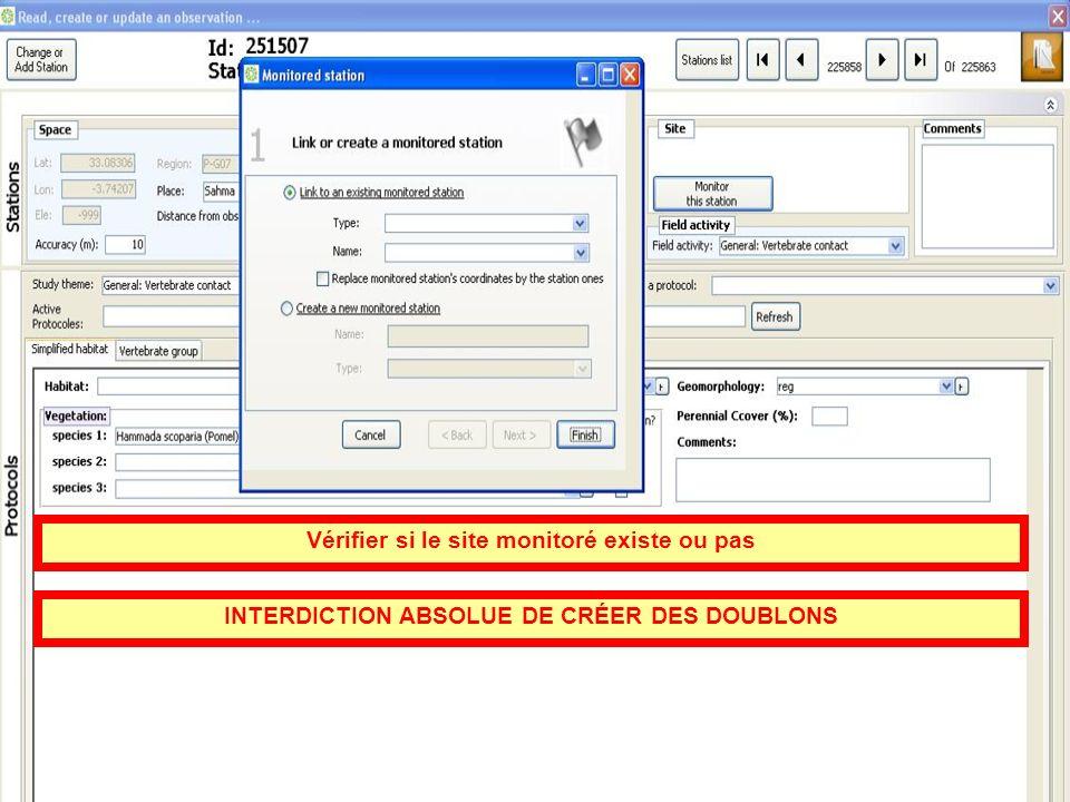 Vérifier si le site monitoré existe ou pas INTERDICTION ABSOLUE DE CRÉER DES DOUBLONS