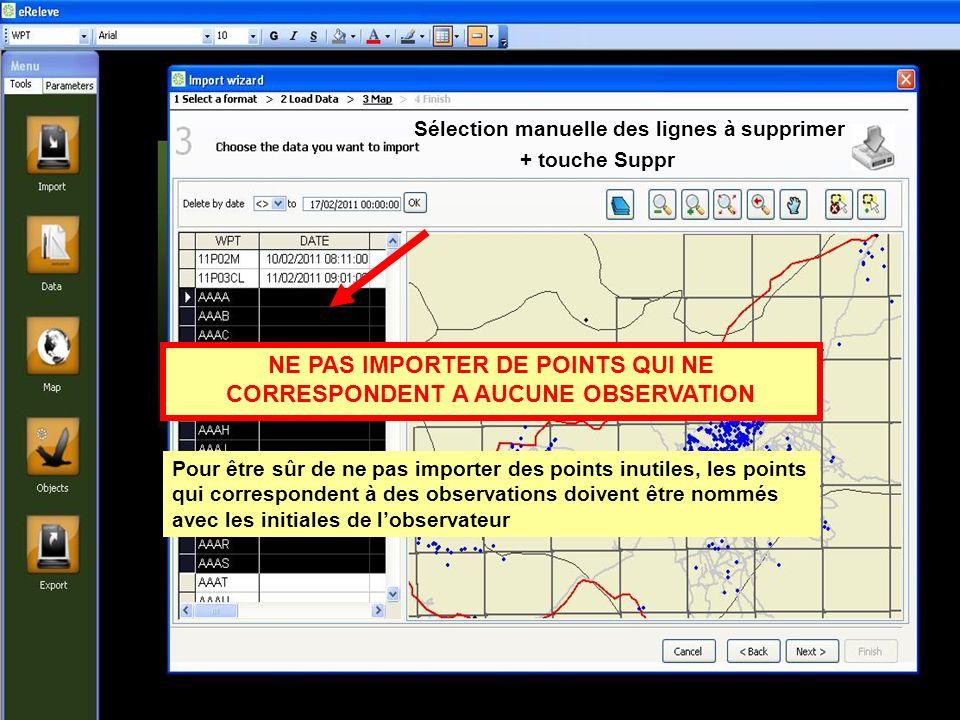 Permet de revenir aux choix des stations (II) Permet dafficher dans le champ « active protocoles » les protocoles saisis Ne permet pas dafficher les formulaires.
