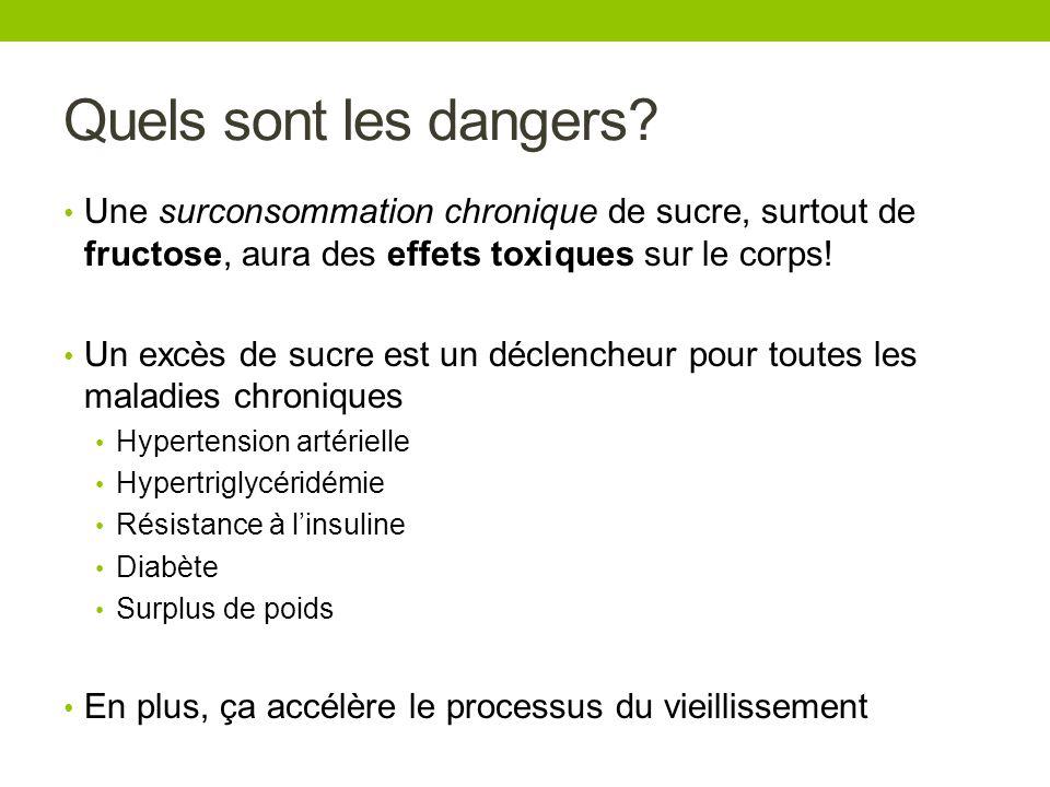 Quels sont les dangers? Une surconsommation chronique de sucre, surtout de fructose, aura des effets toxiques sur le corps! Un excès de sucre est un d
