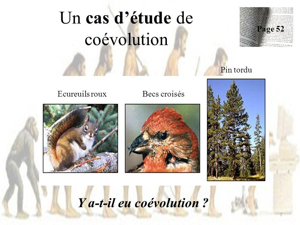 Un cas détude de coévolution Y a-t-il eu coévolution .