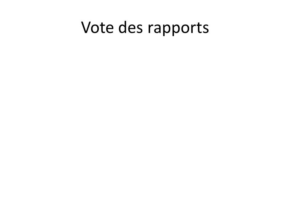 Vote des rapports