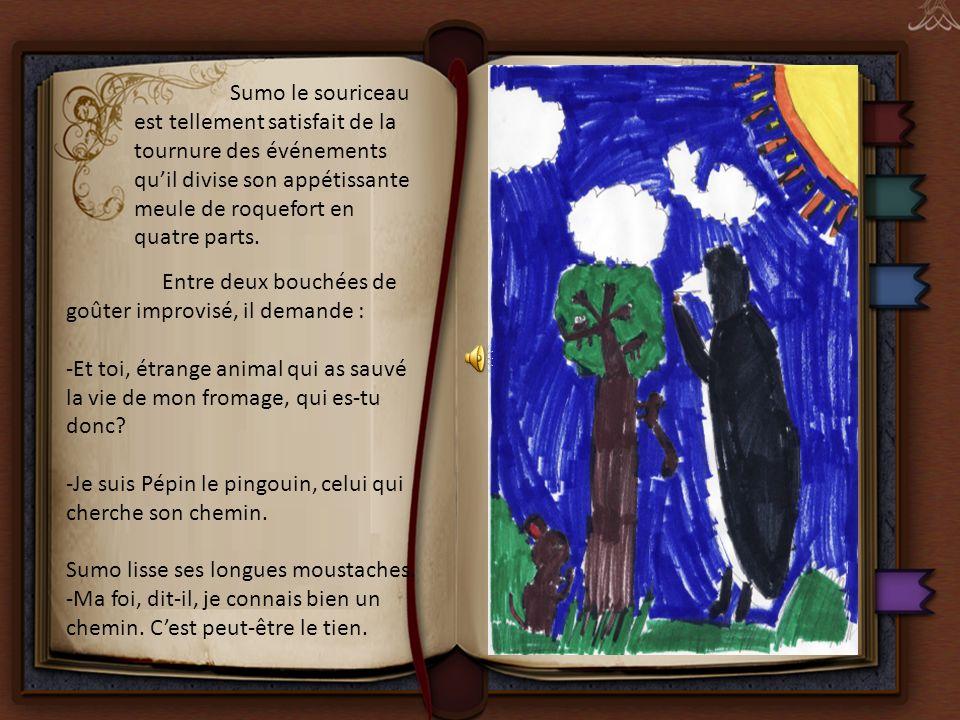 Grâce aux indications du souriceau, Pépin et ses amis trouvent le petit pont de pierre qui enjambe le torrent.