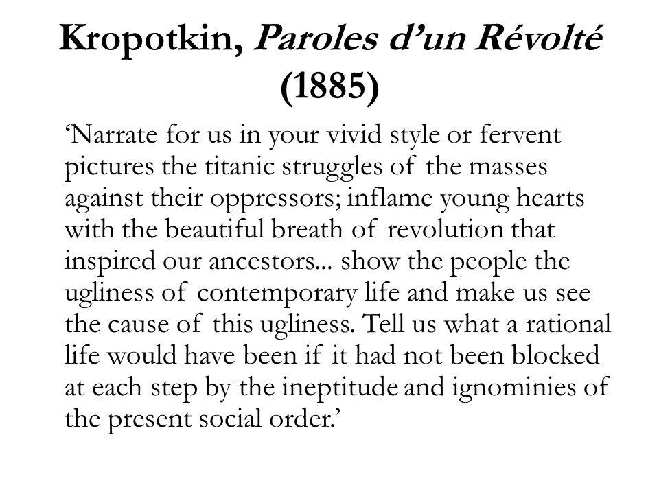 Camille Pissarro to Octave Mirbeau, 1 April 1892 Je viens de lire le livre de Kropotkine.