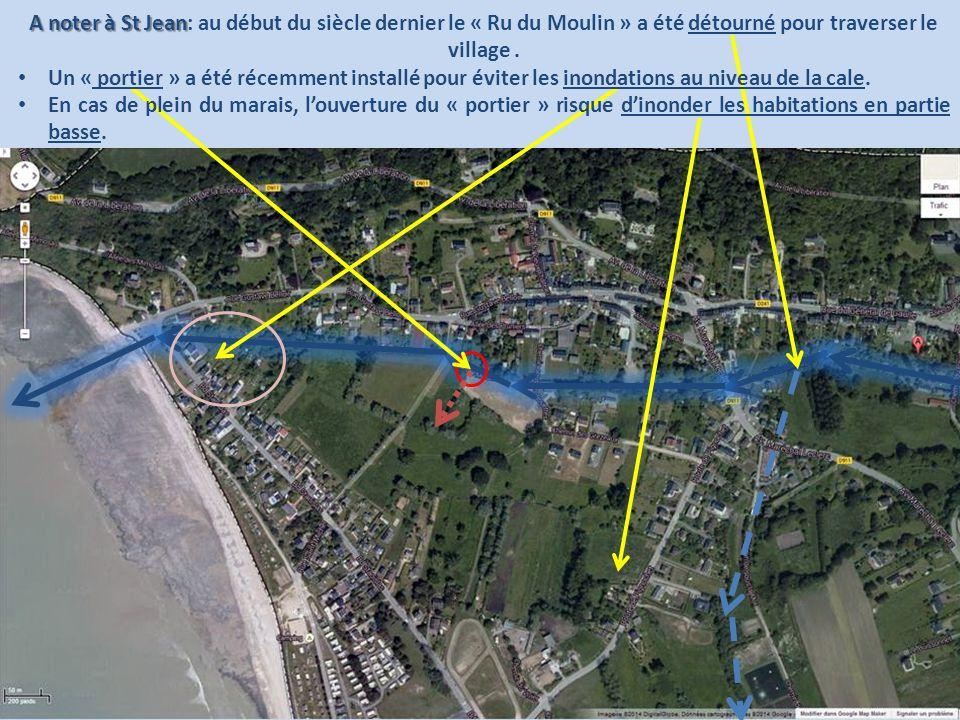 A noter à St Jean A noter à St Jean: au début du siècle dernier le « Ru du Moulin » a été détourné pour traverser le village. Un « portier » a été réc