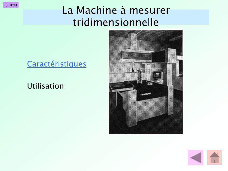 Quitter La Machine à mesurer tridimensionnelle Caractéristiques Utilisation