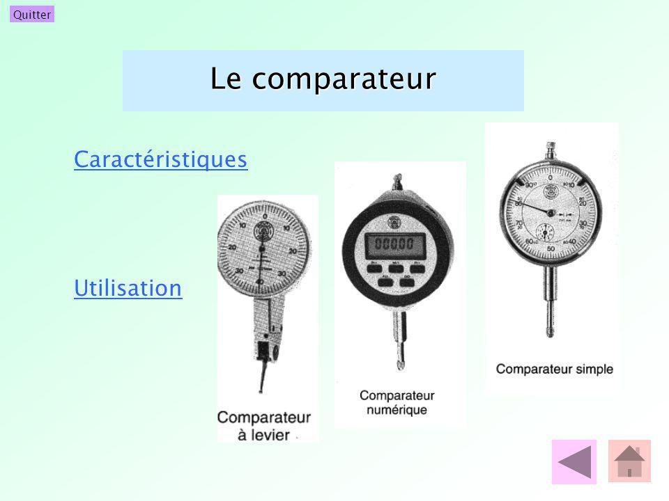 Quitter Le comparateur Caractéristiques Utilisation