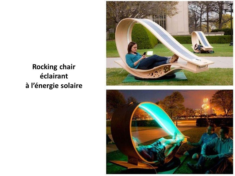 Rocking chair éclairant à lénergie solaire