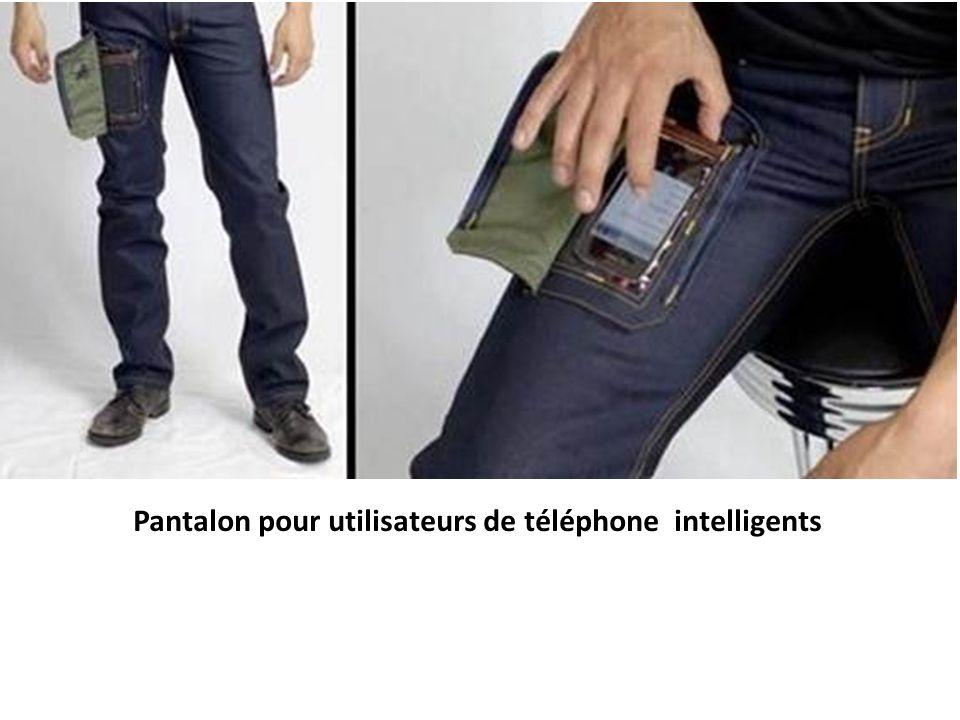 Pantalon pour utilisateurs de téléphone intelligents