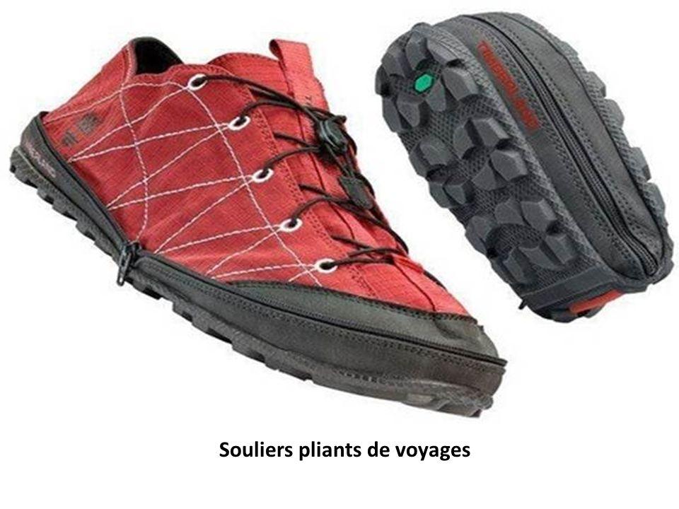 Souliers pliants de voyages