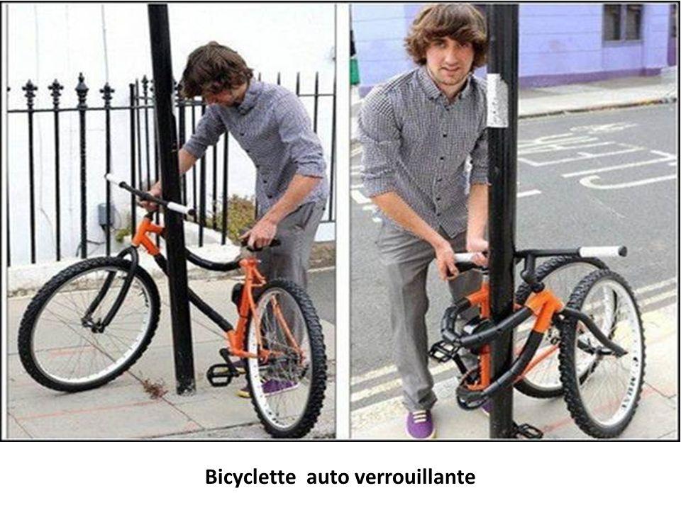 Bicyclette auto verrouillante
