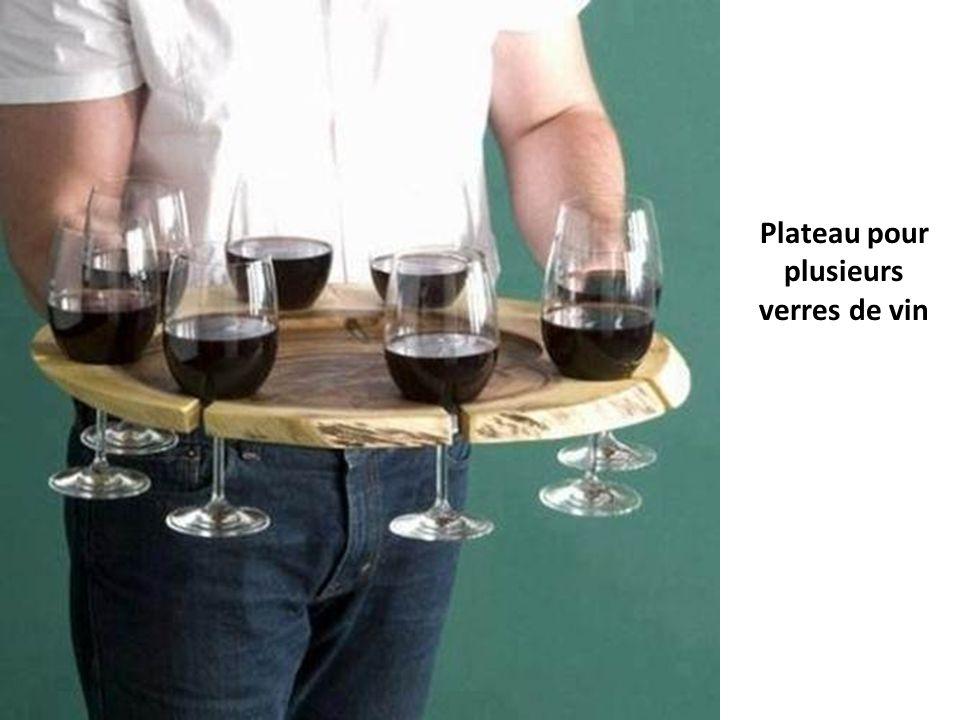 Plateau pour plusieurs verres de vin