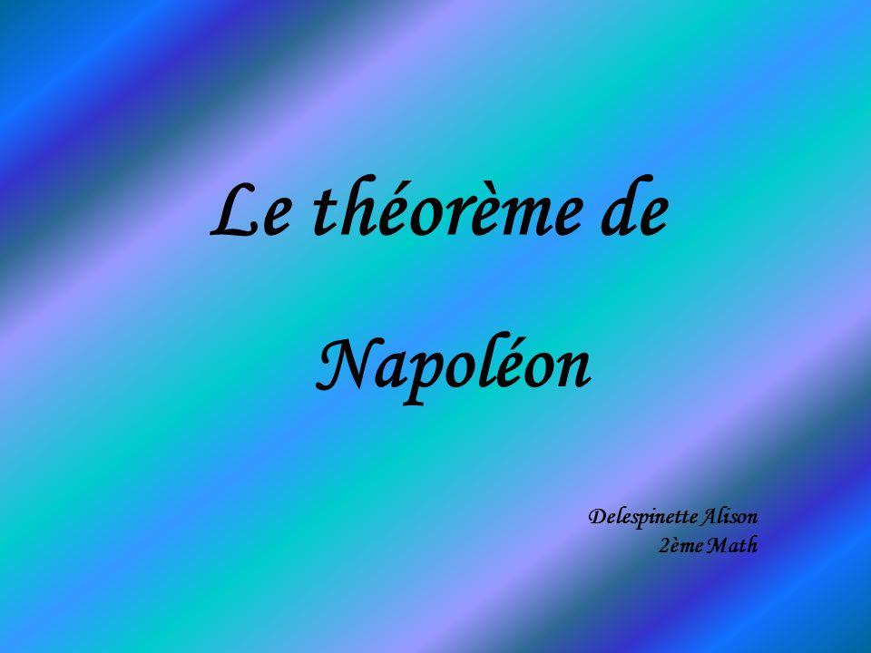 Historique Napoléon BONAPARTE ( 1769-1824) montra un goût certain pour les mathématiques et plus particulièrement pour la géométrie.