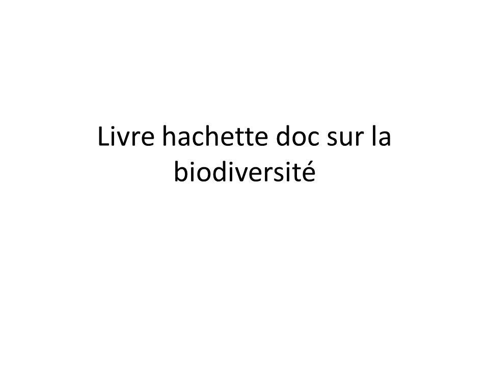 Livre hachette doc sur la biodiversité