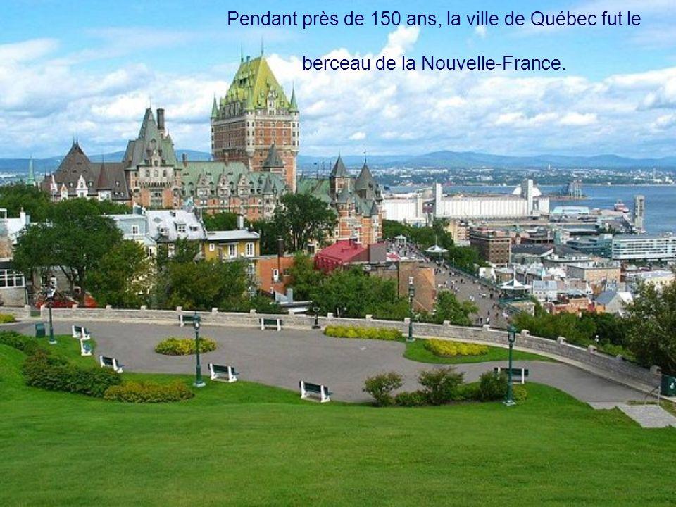 La ville de Québec A été fondée en 1608, par Samuel de Champlain