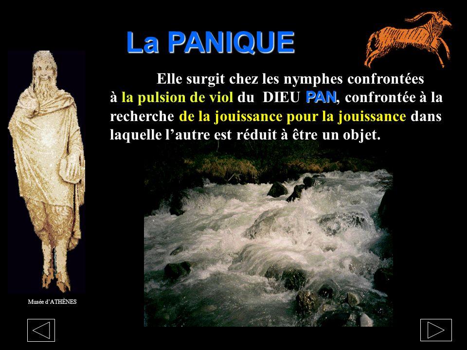 LE DIEU PAN Le BESOIN et la PULSION simposent par leur force en place du DÉSIR qui se partage dans lalliance avec lautre. Musée dATHÈNES