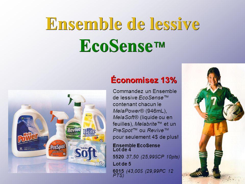 Ensemble de lessive EcoSense Ensemble EcoSense Lot de 4 5520 37,50 (25,99$CP 10pts) Lot de 5 6015 (43,00$ (29,99PC 12 PTS) Économisez 13% Commandez un