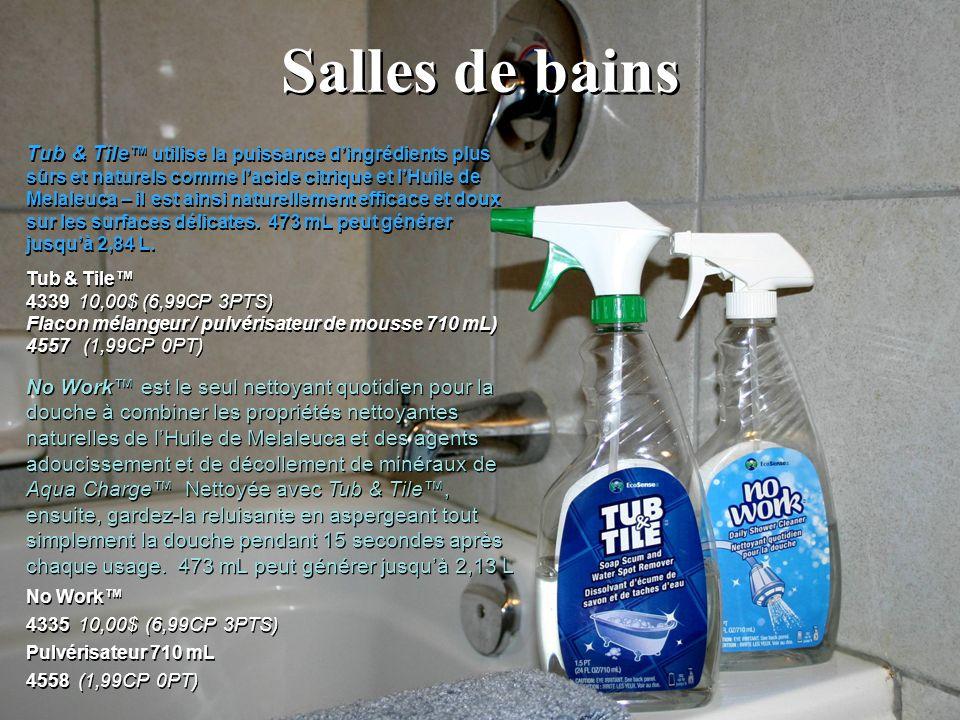 Salles de bains No Work 4335 10,00$ (6,99CP 3PTS) Pulvérisateur 710 mL 4558 (1,99CP 0PT) No Work 4335 10,00$ (6,99CP 3PTS) Pulvérisateur 710 mL 4558 (