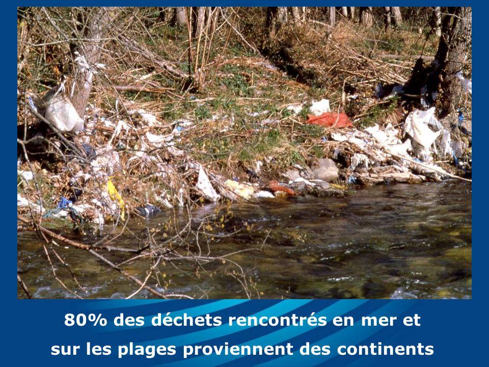 80% des déchets rencontrés en mer et sur les plages proviennent des continents