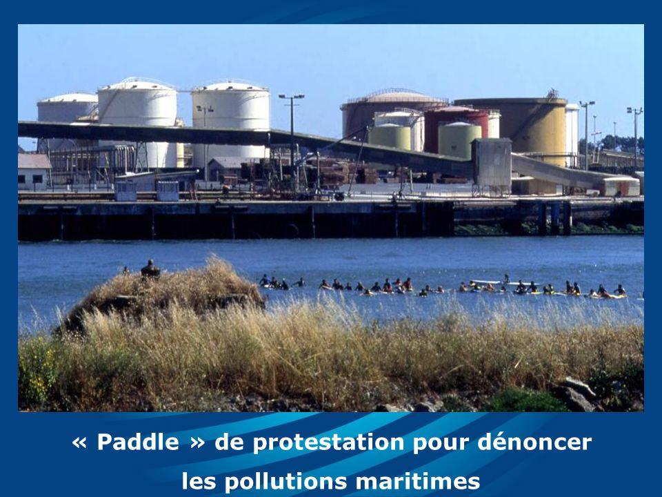 « Paddle » de protestation pour dénoncer les pollutions maritimes
