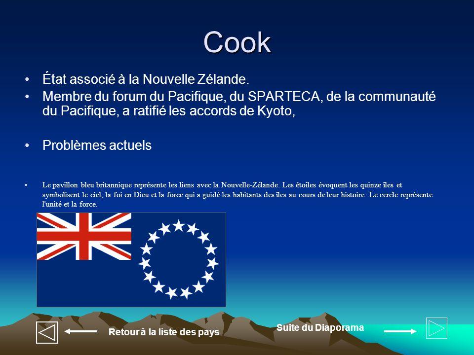 États fédérés de Micronésie État indépendant Membre du forum du Pacifique, du SPARTECA, de la communauté du Pacifique, de lONU, ont ratifié les accords de Kyoto Problèmes actuels Retour à la liste des pays Suite du Diaporama Le bleu représente l océan Pacifique.