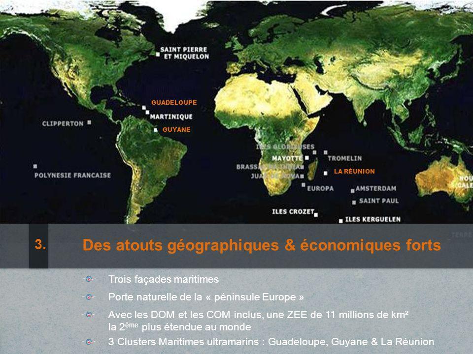 GUADELOUPE LA RÉUNION Great geographic and economic advantages 3.