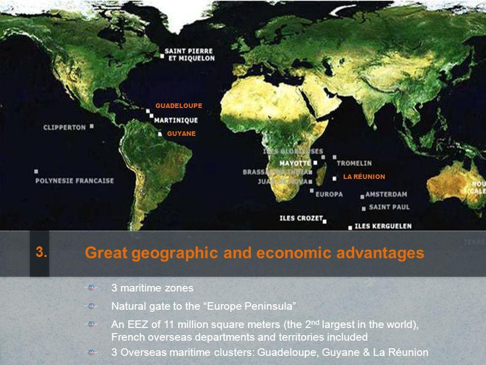 455 M de valeur de production 3 810 emplois (Instituts de recherche) Recherche scientifique marine IFREMER : leader mondial en matière de recherche océanographique Les Pôles mer Bretagne et PACA : des projets coopératifs innovants Équipements uniques au monde et avance technologique 14.