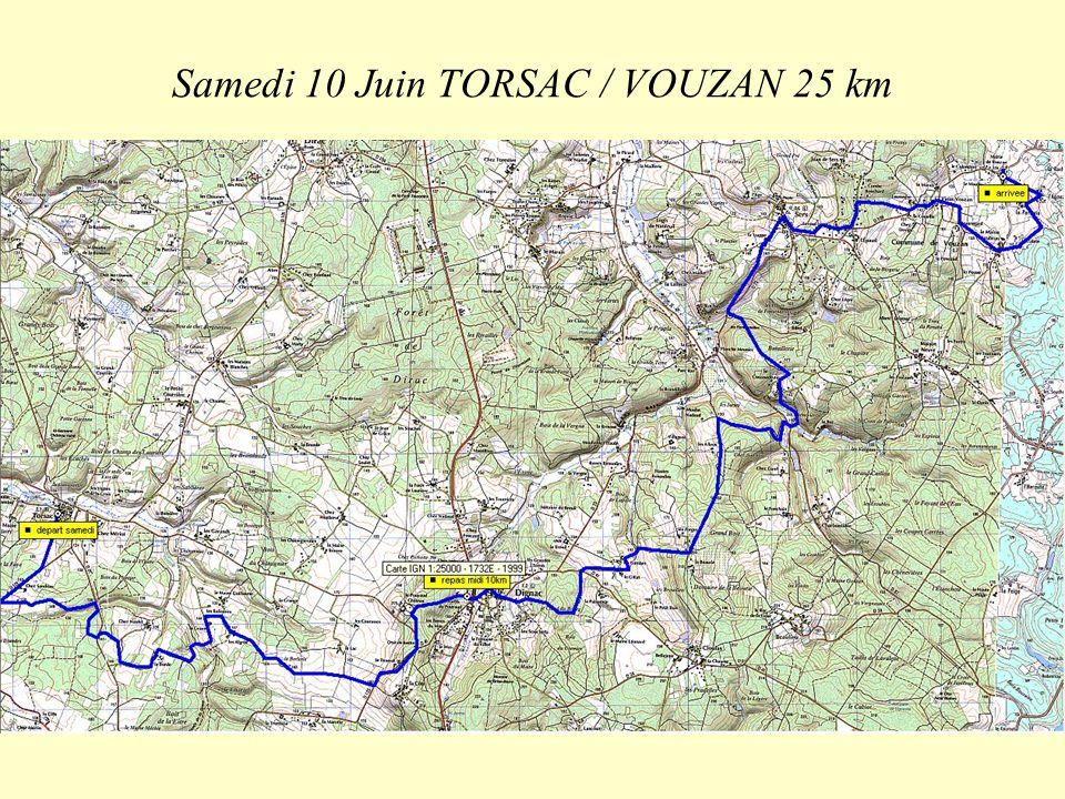 Samedi 10 Juin TORSAC / VOUZAN 25 km