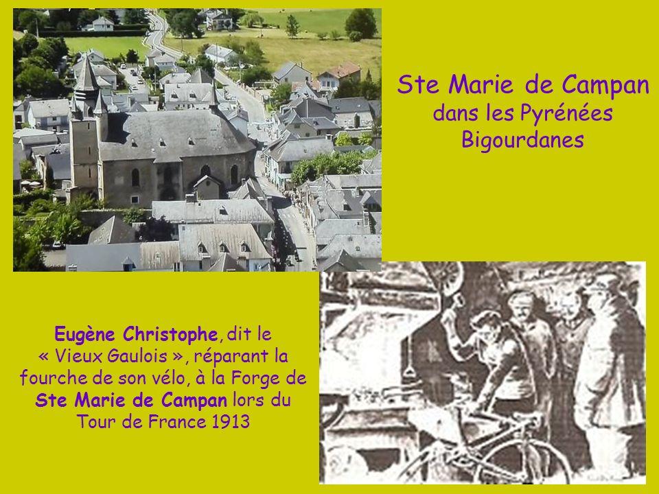 En Juillet 2013 pour la 100°du Tour de France, les coureurs ont emprunté le Col de la Hourquette proche de Campan Le Britannique Christopher FROOME es