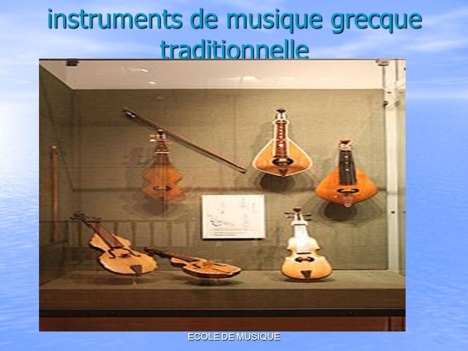 COMENIUS 2010-2011 ECOLE DE MUSIQUE instruments de musique grecque traditionnelle