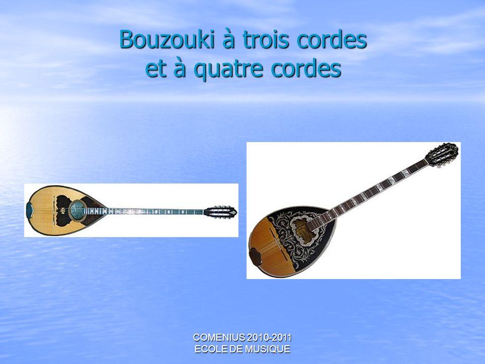 COMENIUS 2010-2011 ECOLE DE MUSIQUE Bouzouki à trois cordes et à quatre cordes
