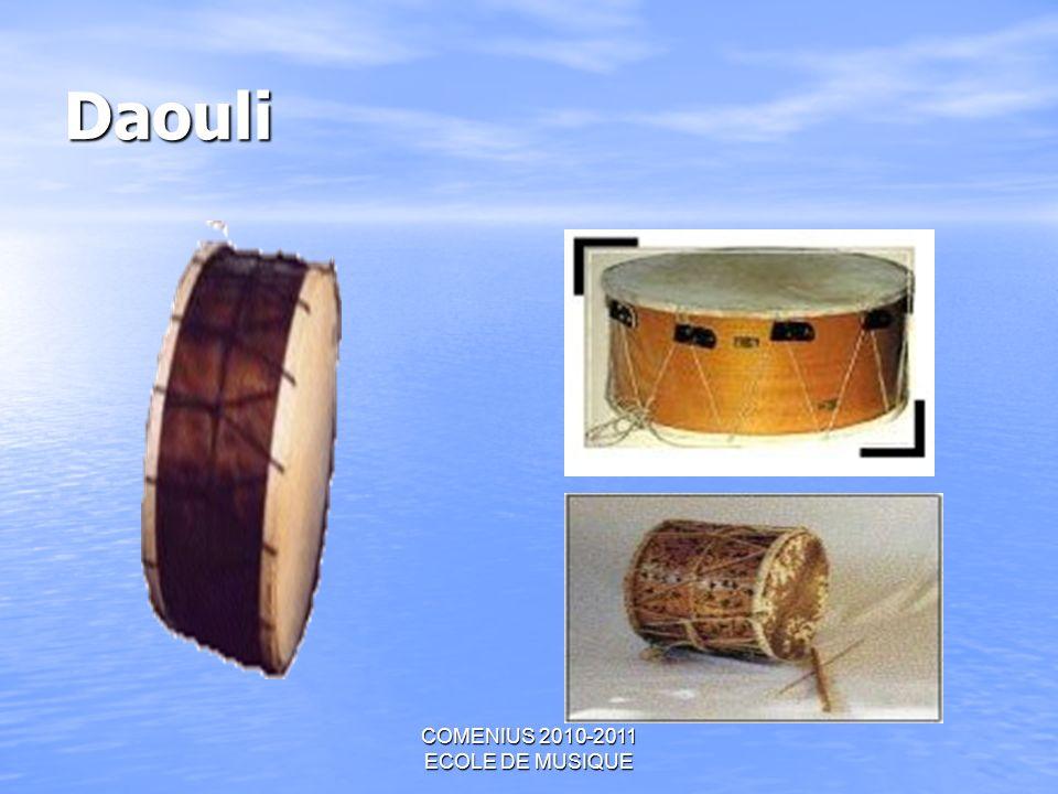 COMENIUS 2010-2011 ECOLE DE MUSIQUE Daouli