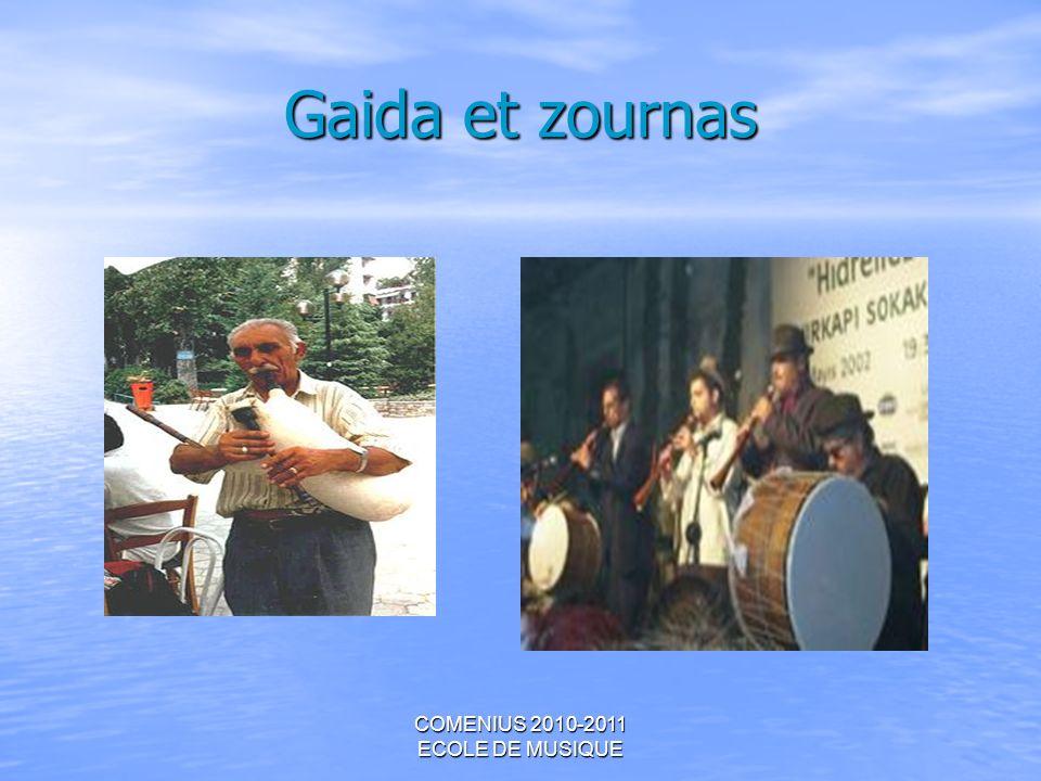 COMENIUS 2010-2011 ECOLE DE MUSIQUE Gaida et zournas