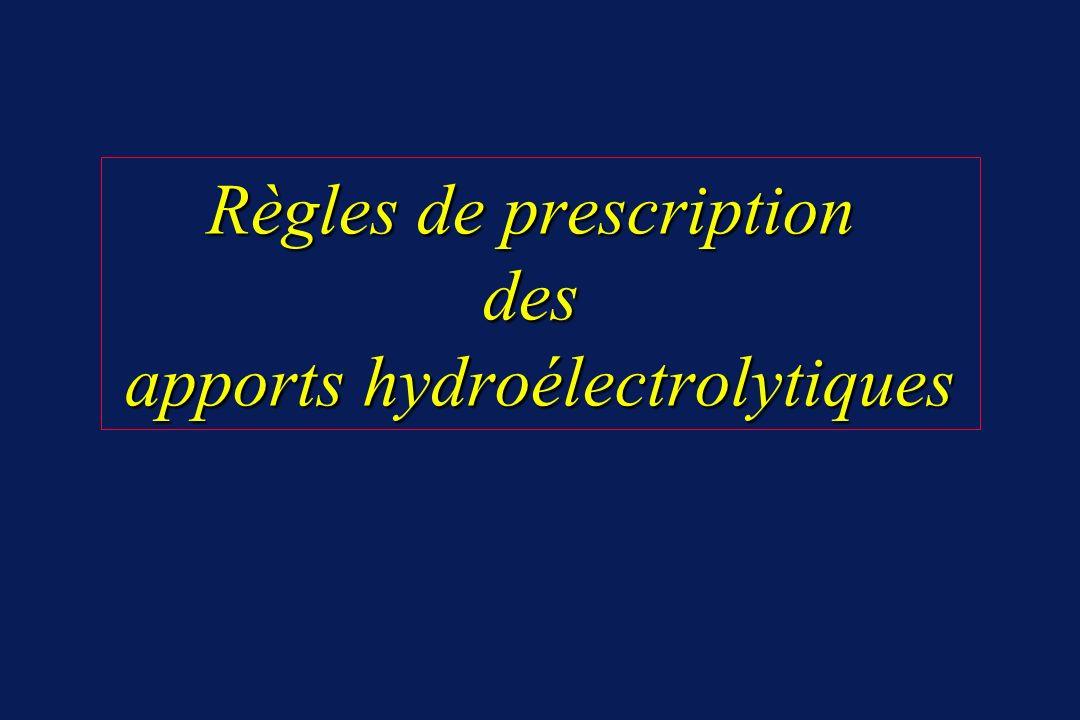 Choix du soluté Choix du soluté Considérer tonicité et contenu en glucose 2 types de solutés : hypotonique => besoins de base : G5% + NaCl 2 g/L physiologique => besoins de remplacement : RL / NaCL 0,9% Utiliser les 2 à débit différent .