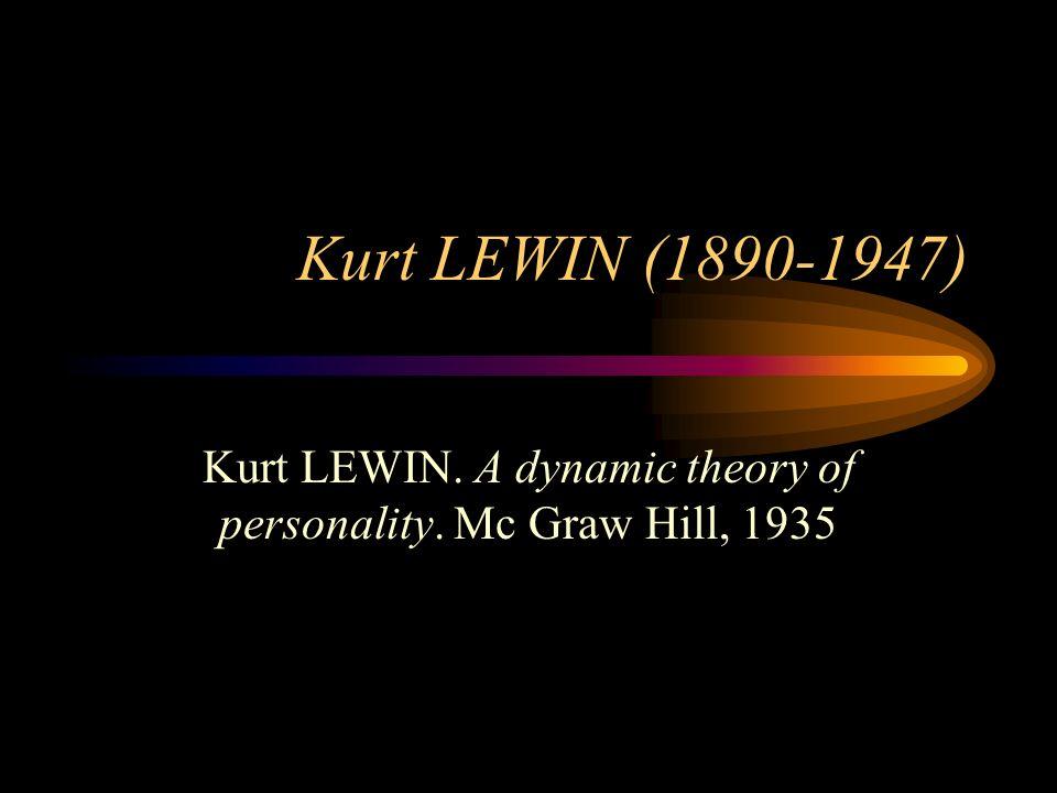 Kurt LEWIN (1890-1947) Kurt LEWIN. A dynamic theory of personality. Mc Graw Hill, 1935
