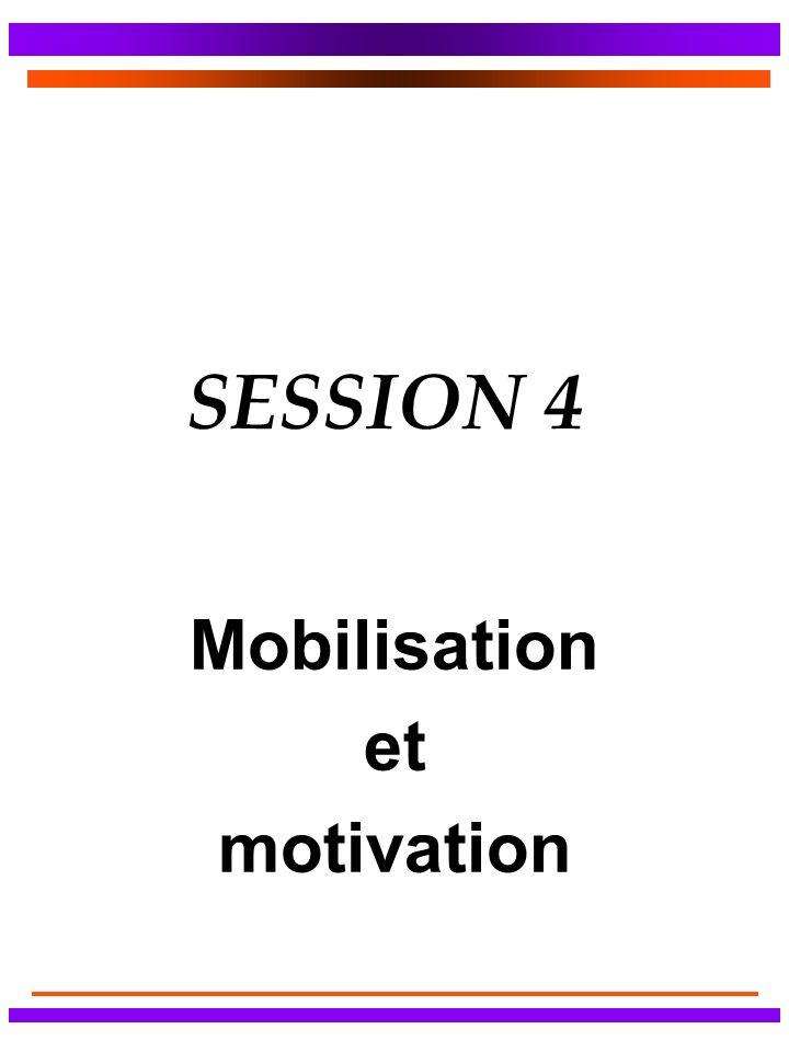 SESSION 4 Mobilisation et motivation