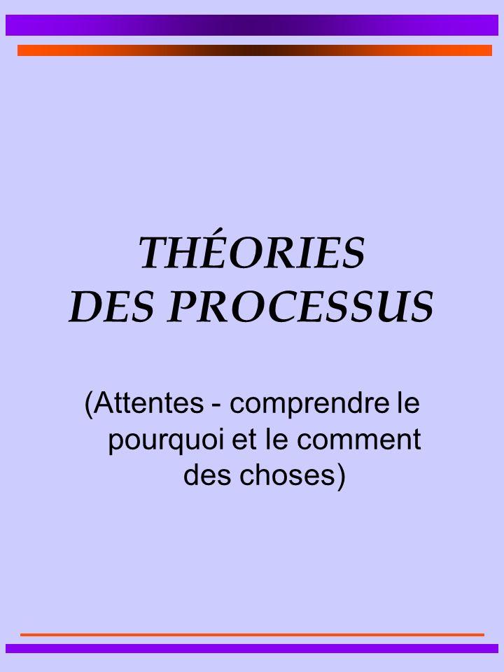 THÉORIES DES PROCESSUS (Attentes - comprendre le pourquoi et le comment des choses)