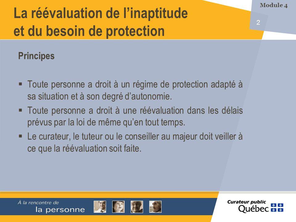 2 Principes Toute personne a droit à un régime de protection adapté à sa situation et à son degré dautonomie.