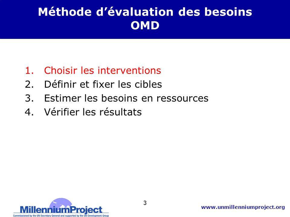 www.unmillenniumproject.org 14 3.Estimation des besoins en ressources : B.
