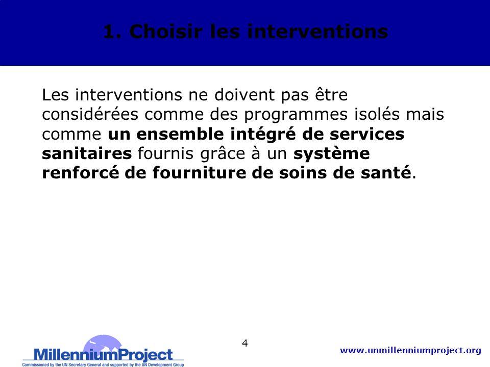 www.unmillenniumproject.org 15 3.Estimation des besoins en ressources : B.