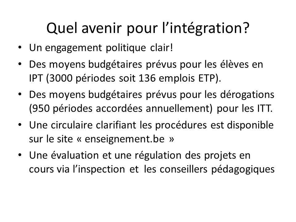 Quel avenir pour lintégration.Un engagement politique clair.