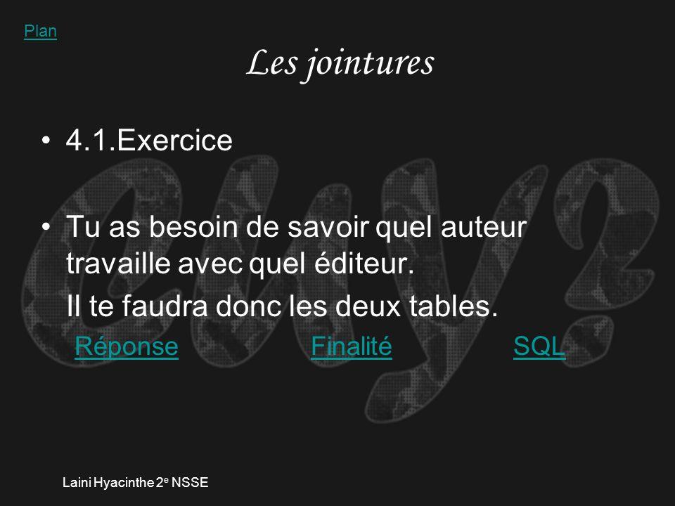 Laini Hyacinthe 2 e NSSE 3.2.