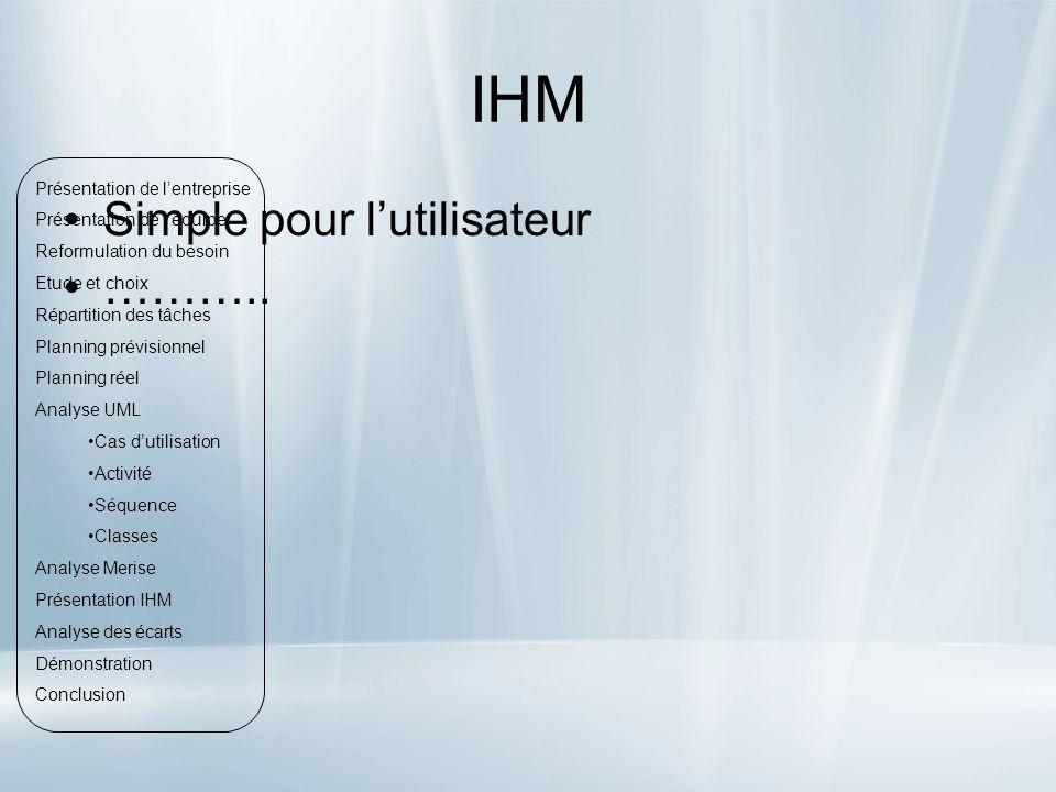 IHM Simple pour lutilisateur ………..