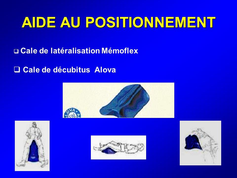 AIDE AU POSITIONNEMENT Cale de latéralisation Mémoflex Cale de décubitus Alova