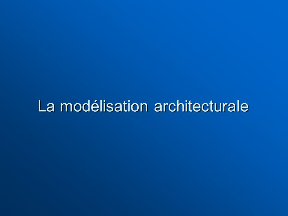 La modélisation architecturale
