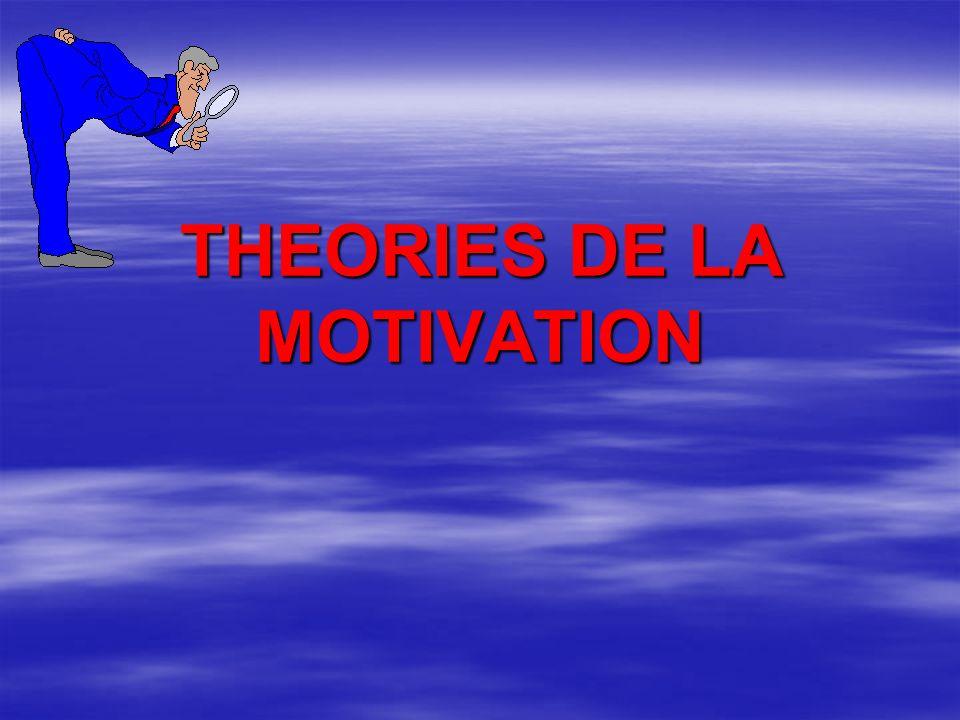 THEORIES DE LA MOTIVATION