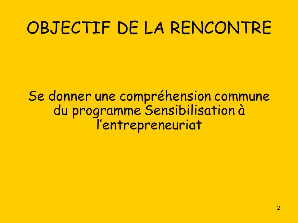 3 Une introduction au programme Sensibilisation à lentrepreneuriat Les compétences disciplinaires Les ressources et les outils