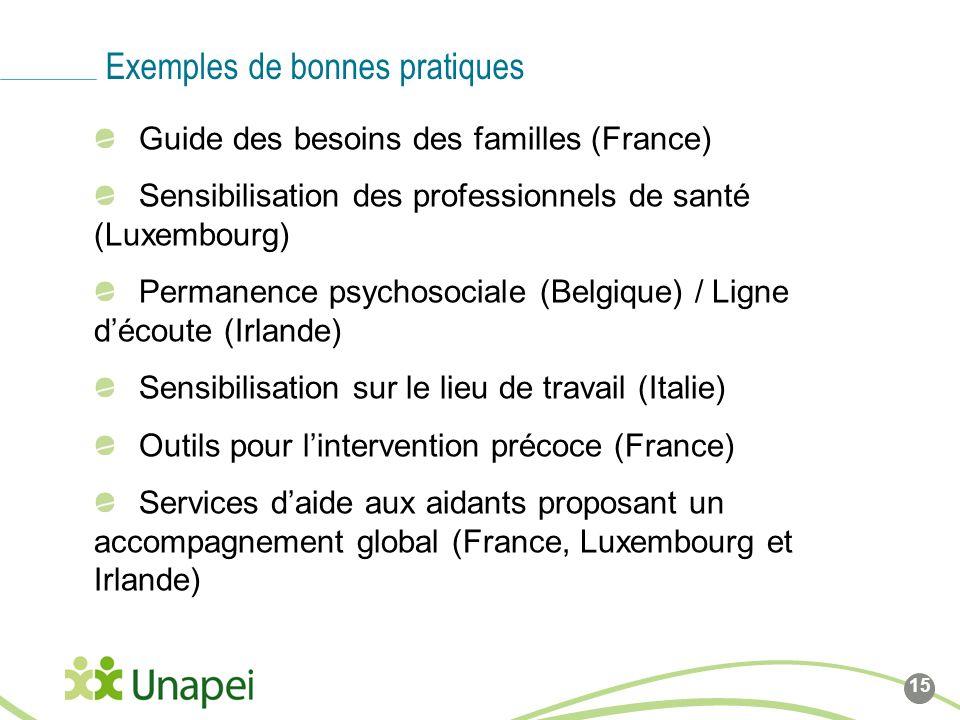 Ligne de base du logo Côté gauche du logo calé sur cette ligne Guide des besoins des familles (France) Sensibilisation des professionnels de santé (Lu