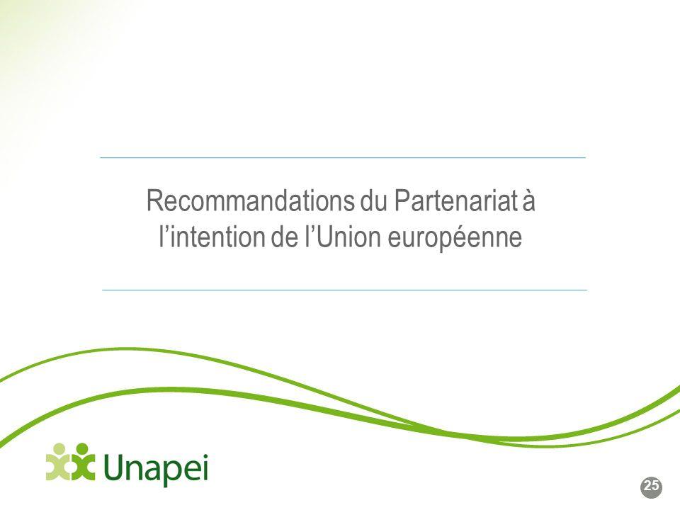 Ligne de base du logo Côté gauche du logo calé sur cette ligne Recommandations du Partenariat à lintention de lUnion européenne 25