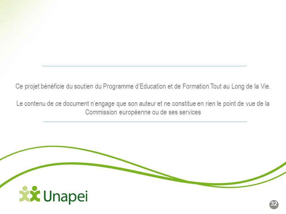 Ligne de base du logo Côté gauche du logo calé sur cette ligne Ce projet bénéficie du soutien du Programme dEducation et de Formation Tout au Long de