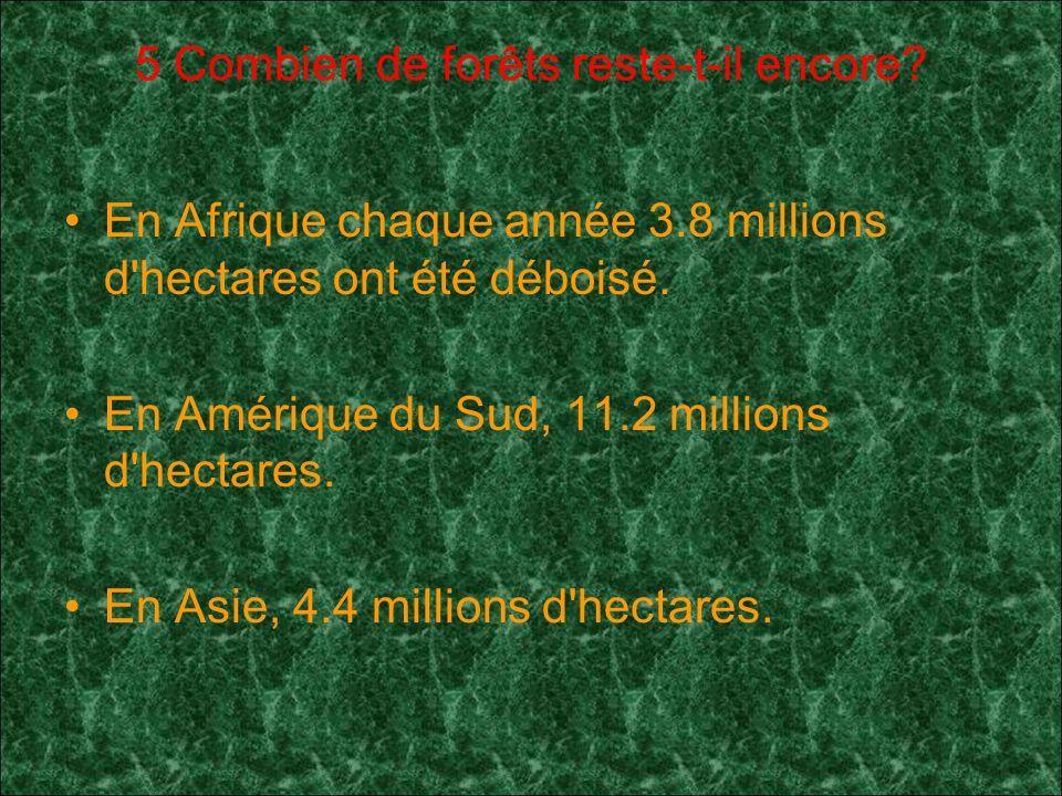 5 Combien de forêts reste-t-il encore.